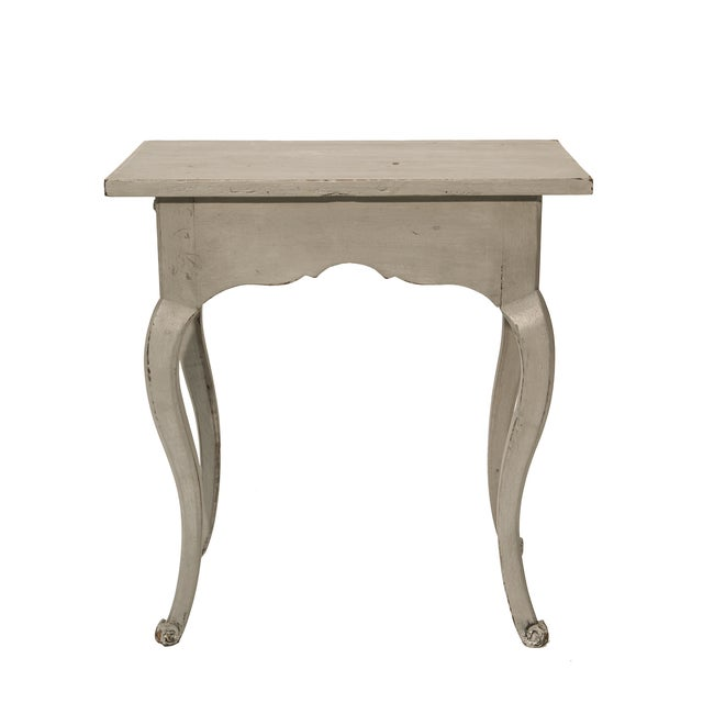 Louis XV-Style Petite Gray Side Table - Image 2 of 2
