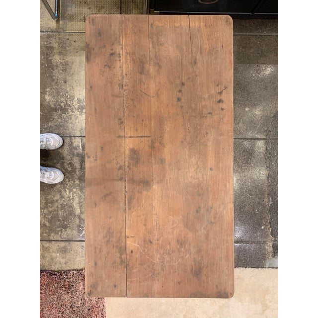 Antique French Farm Table For Sale - Image 4 of 12