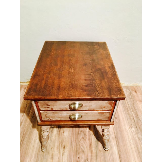 Farmhouse Rustic Side Table - Image 8 of 11
