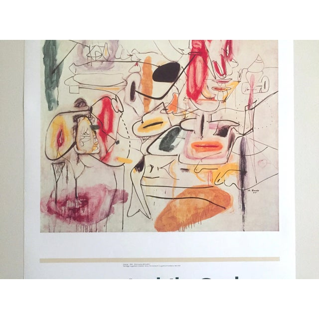Vintage 1981 Arshile Gorky Original Abstract Lithograph Print Exhibition Poster - Image 4 of 9