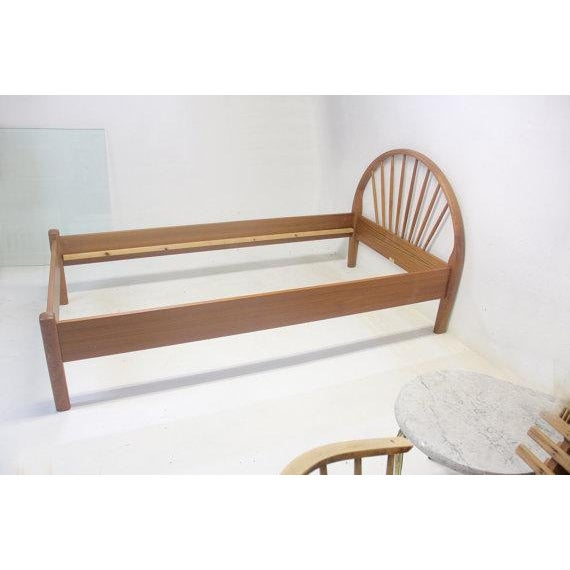 Danish Modern Jespersen Danish Teak Peacock Back Twin Bedframe For Sale - Image 3 of 5