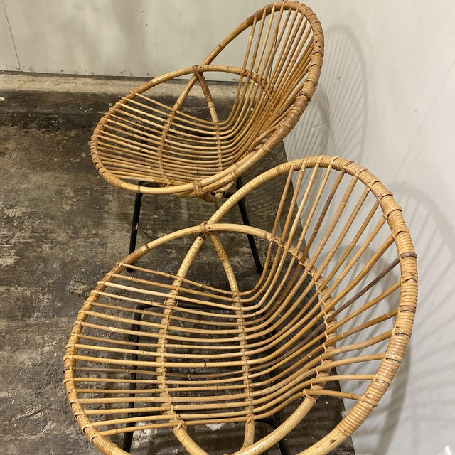 Wood Mid Century Chairs - a Pair For Sale - Image 7 of 9