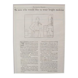 "1920's Vintage Advertisement Ivory Soap - Magazine Page - ""To Men Who Would Like to Wear Bright Neckties"" For Sale"