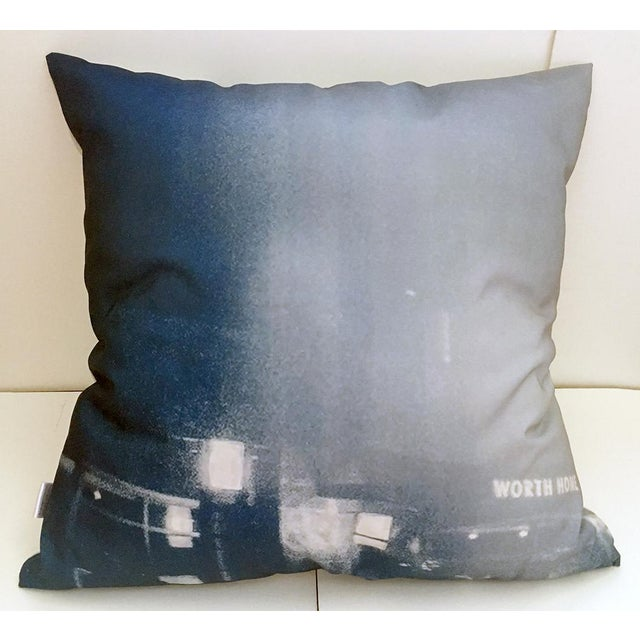 Blue & White Photorealism Pillow For Sale - Image 5 of 7
