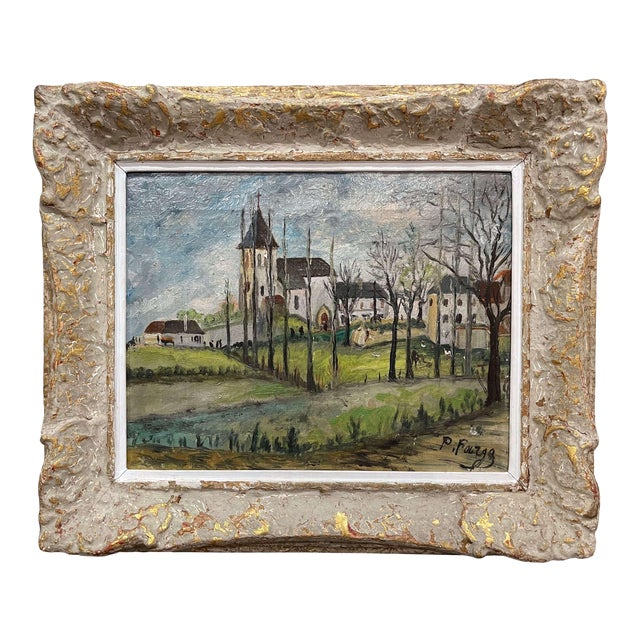 Early 20th Century French Oil on Canvas Painting Signed P. Farge For Sale