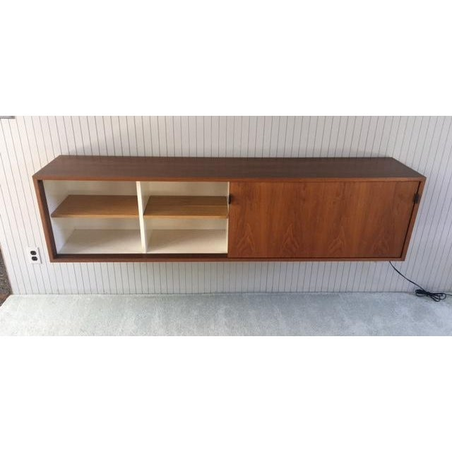 Florence Knoll Wall Mounted Credenza Cabinet For Sale - Image 5 of 6