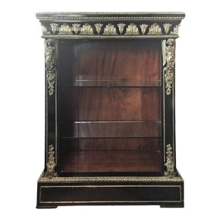 Napolean III Lacquered Bookcase For Sale