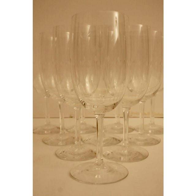 Etched Crystal Wine Glasses From Sweden - Set of 12 - Image 4 of 8