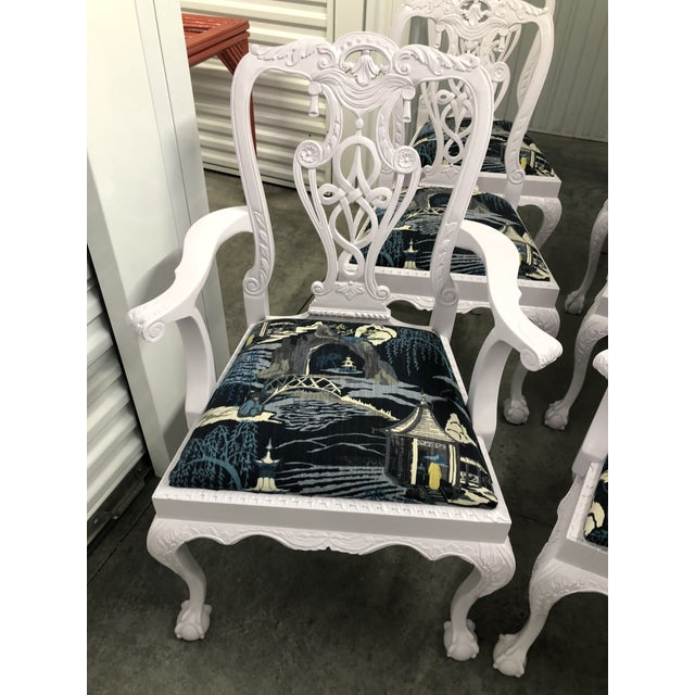 Modern Lacquered Chippendale Chairs- Set of 6 For Sale - Image 9 of 11