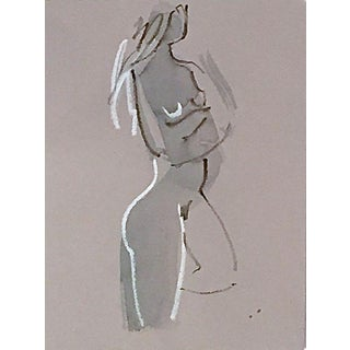 """21st Century """"One Minute Pose Nude #117.2"""" Painting For Sale"""
