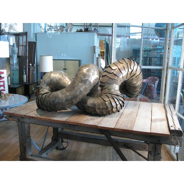 Slate Gray Ad Infinitum' Sculpture by Artist Joseph Kurhajec For Sale - Image 8 of 11
