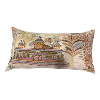 John Robshaw Multi Colored Decorative Pillow For Sale