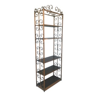 Hollywood Regency Gold Gilded Etagere Bookcase