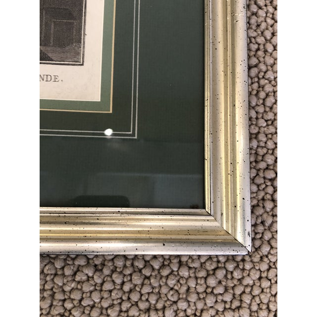 Green Antique Silver Framed Green Matted Bookplate Etchings - a Pair For Sale - Image 8 of 13
