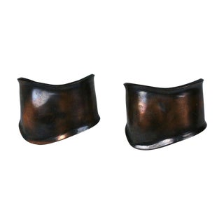 Peretti Style Modernist Copper Cuffs For Sale