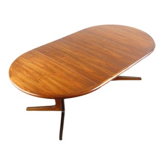 Danish Modern Extension Dining Table / Conference Table with Rosewood Detailing by Glostrup, Danish For Sale