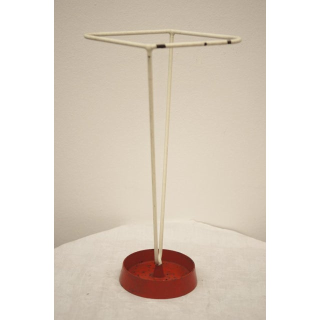 Umbrella stand made of steel wire, 1950s For Sale - Image 4 of 8