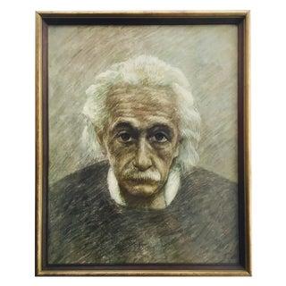 Albert Einstein Original Graphite Sketch