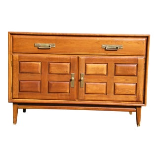 Vintage Mid Century Modern Heywood Wakefield Cliff House Cherry Credenza For Sale