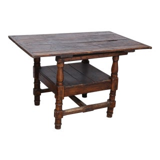 1800's Irish Pine Chair Table For Sale