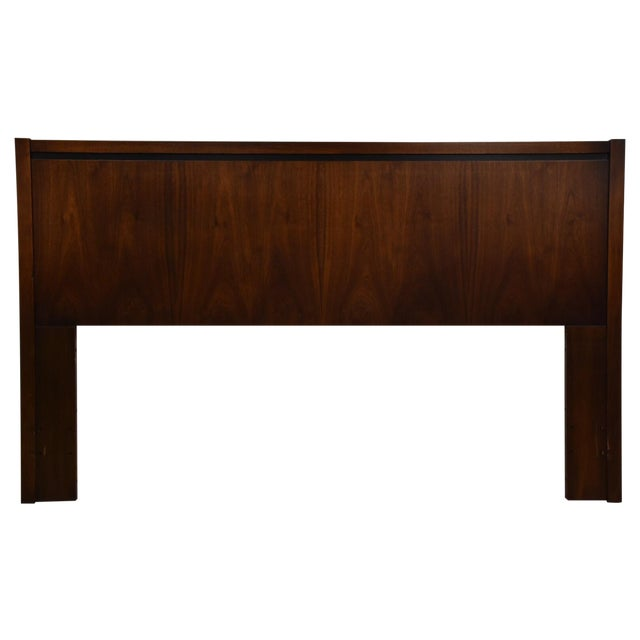 Mid-Century Modern Queen Size Walnut Headboard - Image 1 of 7