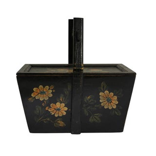 Vintage Chinese Rectangular Fish and Longevity Peach Food Bucket Preview