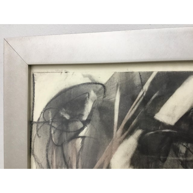 2000 - 2009 Large Format Framed Abstract Ink and Charcoal Drawing For Sale - Image 5 of 13