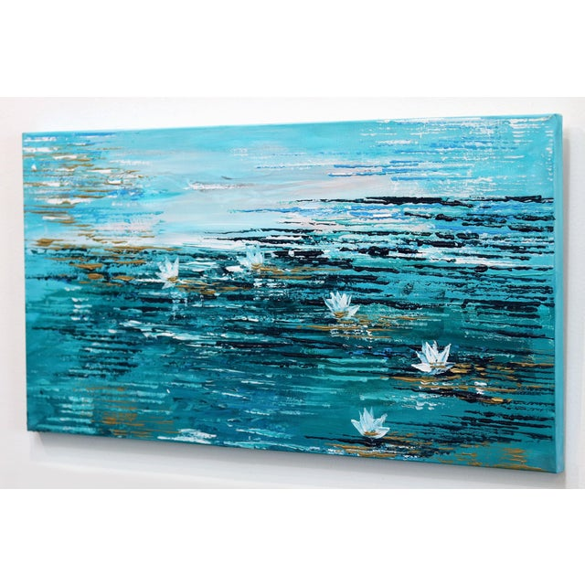 """""""Water Lily 5"""" Original Artwork by Ivana Milosevic For Sale In Los Angeles - Image 6 of 10"""