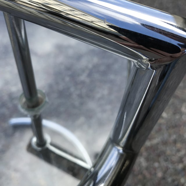Eileen Gray Chrome & Glass Side Table For Sale - Image 11 of 11