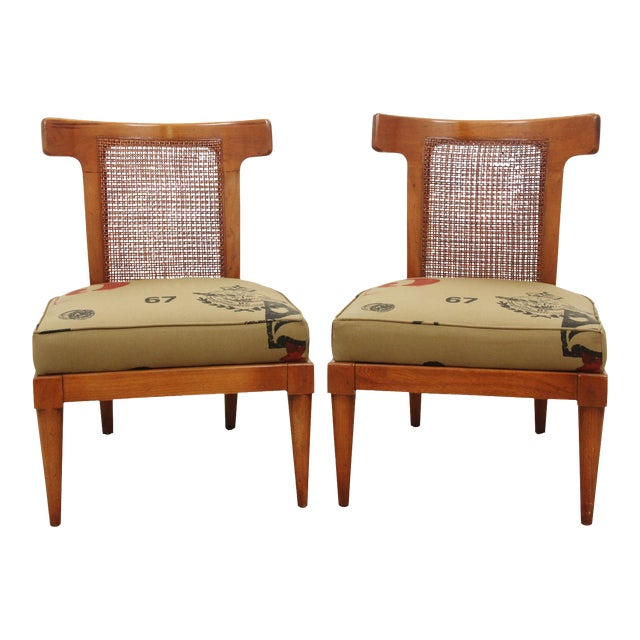 American of Martinsville Campaign Chairs - a Pair - Image 1 of 8