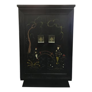 Vintage Art Deco Era Asian Chinoiserie Cabinet, 1930s For Sale
