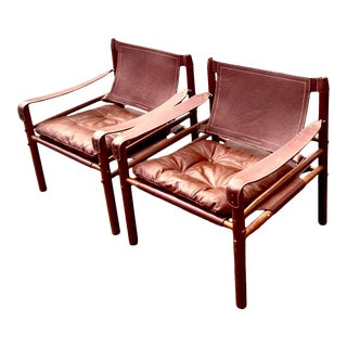"""Handmade MidCentury Scanform Edition """"Sirrocco"""" Sling Chairs by Arne Norelle For Sale"""