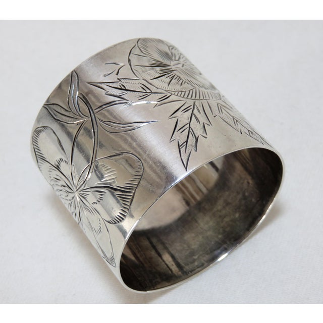 Late 19th Century 19th Century Antique Sterling Silver Napkin Ring For Sale - Image 5 of 5