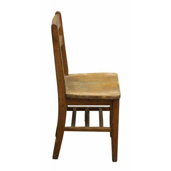 Small Wooden School Chair For Sale - Image 4 of 5