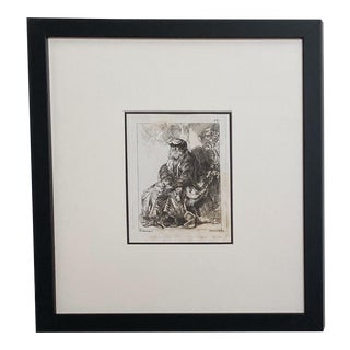 Late 18th Century Rembrandt Etching #20, by Francesco Novelli For Sale