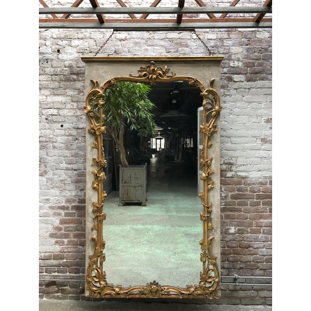 Beautiful French 18th Century Gilt Wood Trumeau Louis XV For Sale - Image 11 of 11