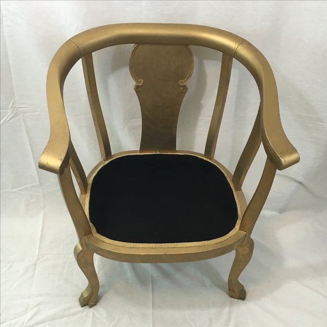 Gold Claw Foot Chair - Image 3 of 9