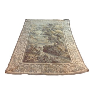 Antique French Woven Tapestry For Sale