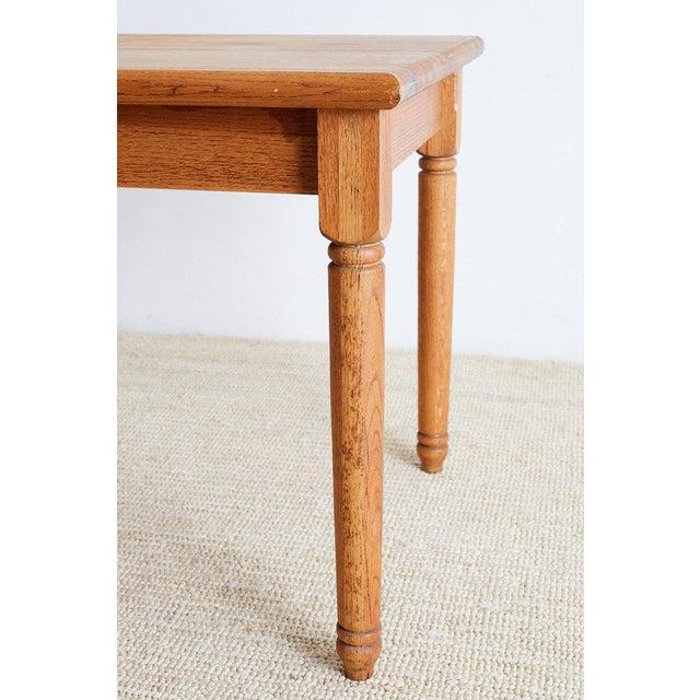 American Oak Butcher Block Style Farm Table For Sale In San Francisco - Image 6 of 13