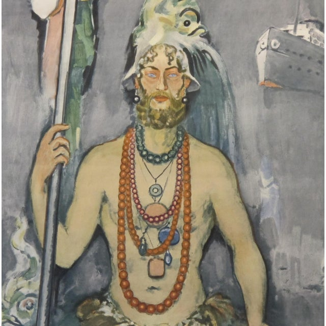 Date: 1964 Size: 20 x 30.5 inches Artist: Van Dongen, Kees What Neptune, the god of the Sea (also known as Poseidon) has...