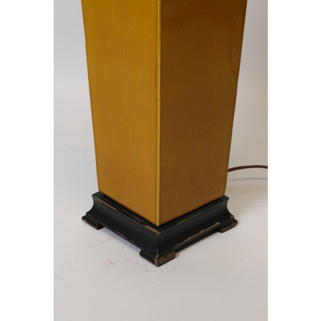 Square Vase Mustard Lamp For Sale In New York - Image 6 of 9