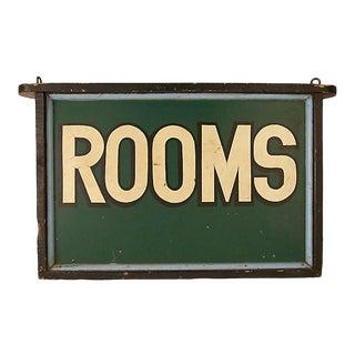 Vintage Rooms Sign For Sale