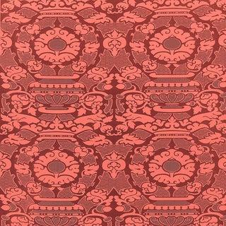 Suzanne Tucker Home Piacevole Silk Linen Jacquard Fabric in Cinnabar