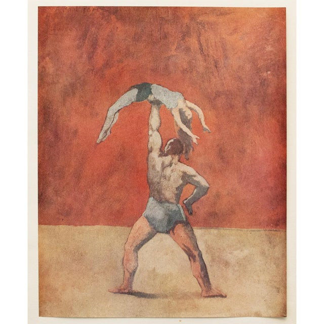 Orange 1948 Pablo Picasso, Original Acrobats Period Lithograph With C. O. A. For Sale - Image 8 of 10