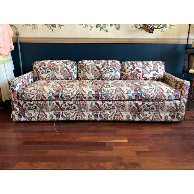 Vintage 1970s Down Sofa in Fabulous Print Upholstery For Sale - Image 13 of 13