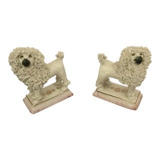 Staffordshire Ware Kent Lion Poodles - A Pair For Sale