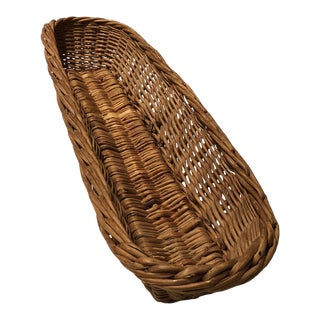 Baguette French Wicker Basket For Sale