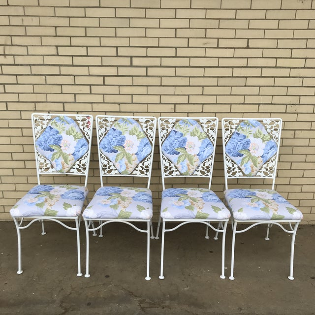 "Cottage Iron ""Garden Party"" Chairs - Set of 4 For Sale - Image 3 of 6"