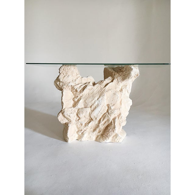 Brown Sirmos Quarry Style Plaster Console Table For Sale - Image 8 of 8