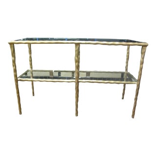 Jamie Young Shelved Console Table For Sale